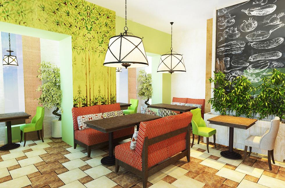 фото после дизайна итальянского ресторана