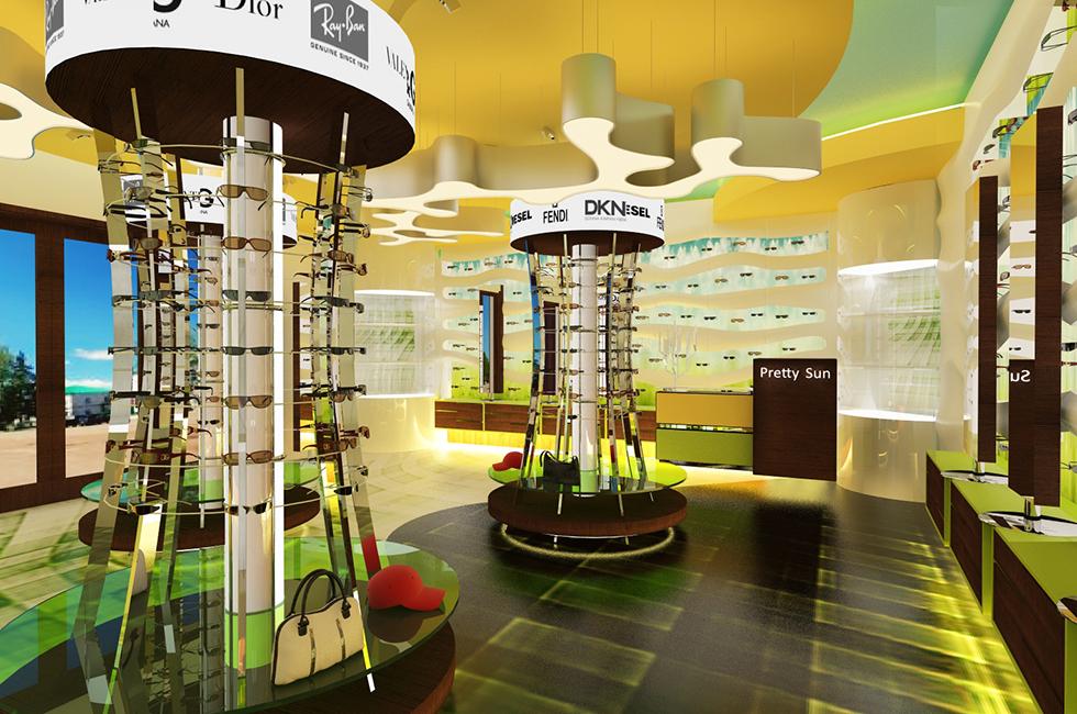 дизайн проект магазина очков в торговом центре