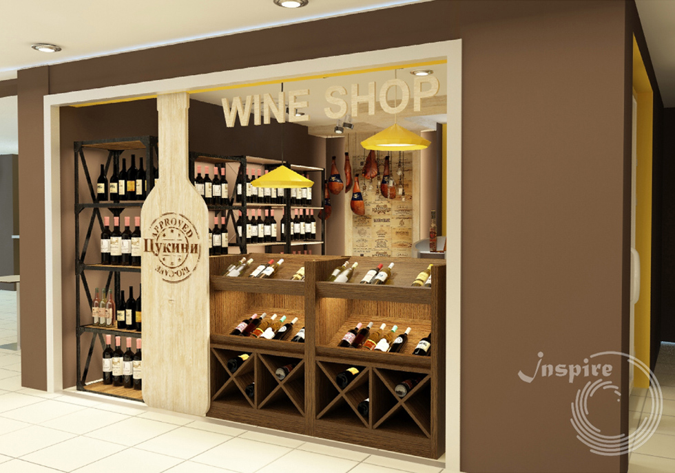 фото дизайна винотеки