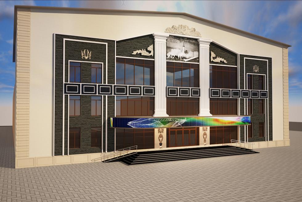 строительство и дизайн торгового центра