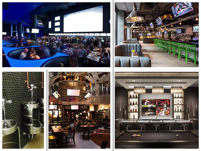 Дизайн спорт-бара под ключ - разработка дизайн проекта спортивного бара, фото готовых работ | INSPIREGROUP