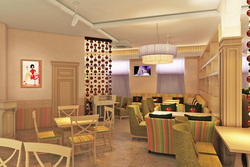 готовый дизайн проект суши бара