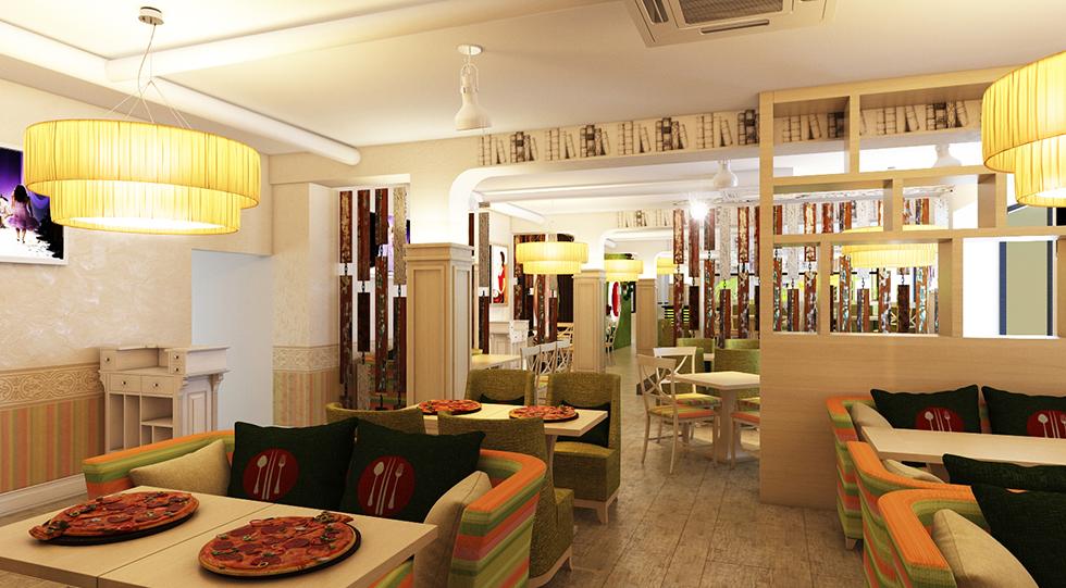 фото дизайн проекта кафе Ньокки