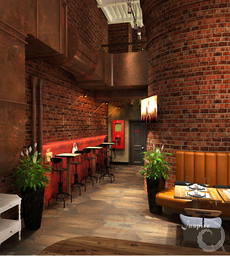 дизайн лофт ресторана
