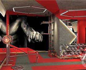 фото дизайн проекта фитнес зала