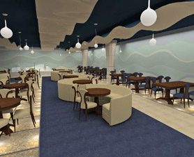 дизайн ресторана в морском стиле