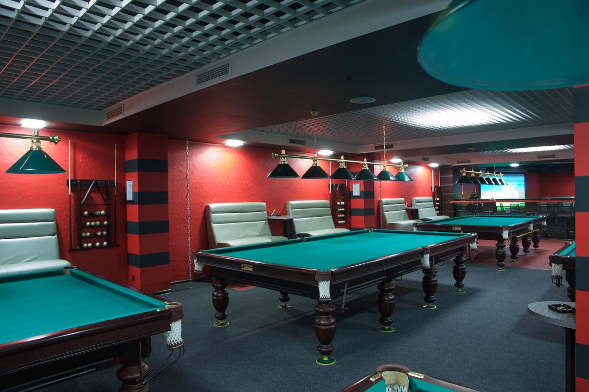фото дизайна бильярдного клуба