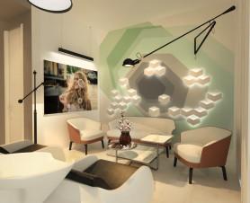 фото готового дизайн проекта салона красоты