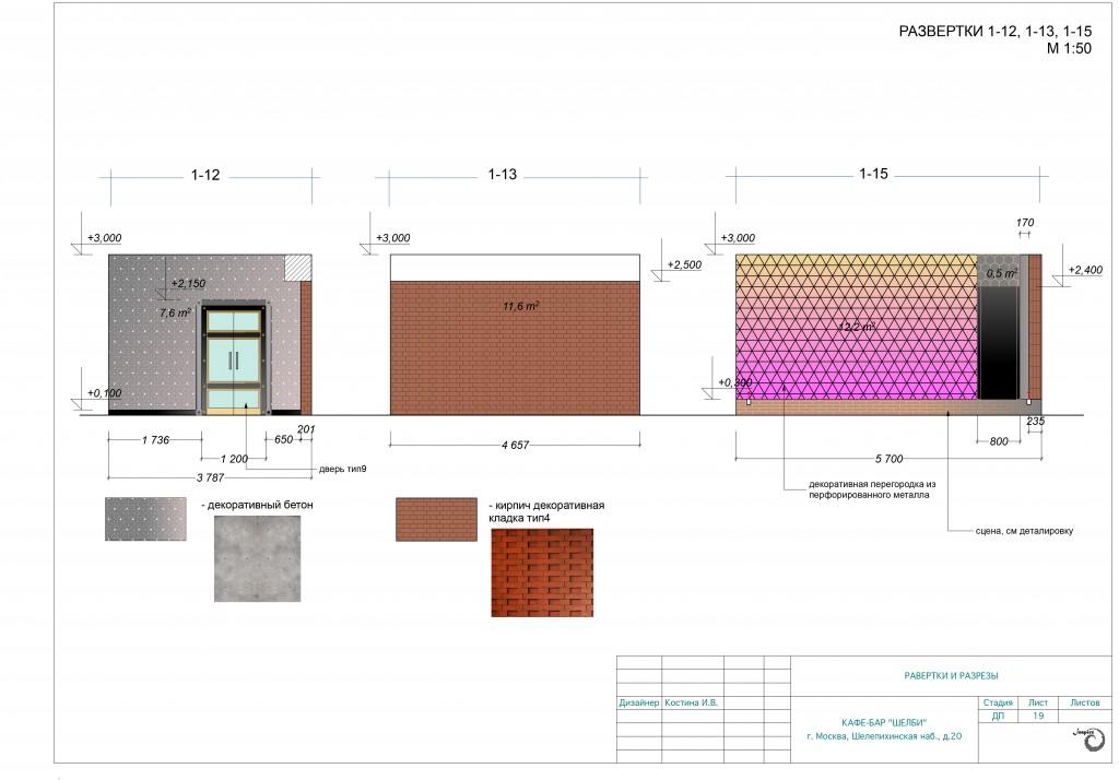 готовый дизайн проект бара