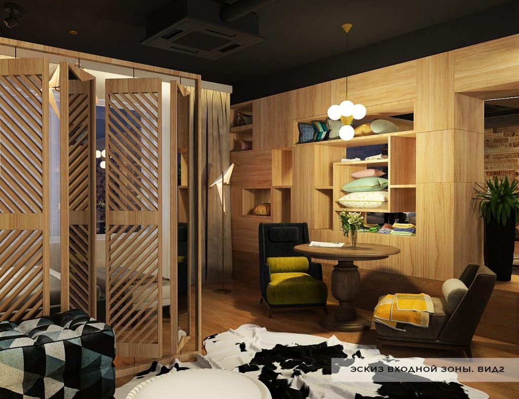 фото дизайн проекта магазина в стиле лофи