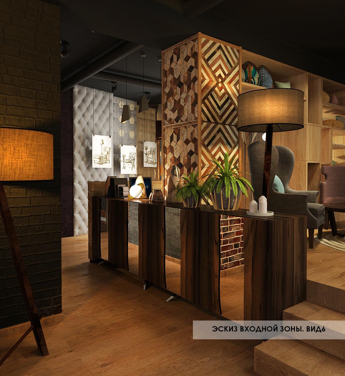 фото проекта дизайна готового лофта