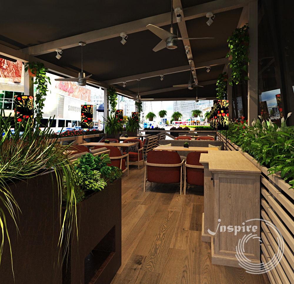 дизайн проект летней веранды кафе
