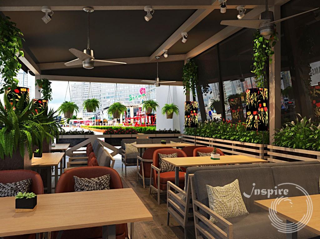 дизайн летней веранды ресторана