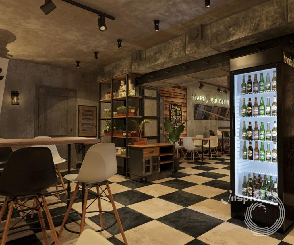 дизайн помещения бургерной