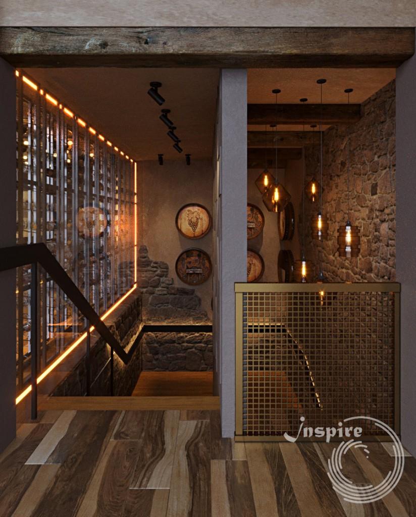 фото лестницы в ресторане