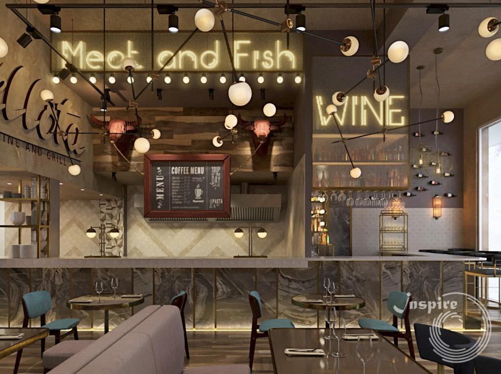 дизайн мебели винного ресторана