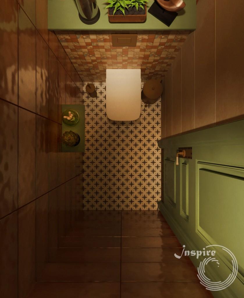 дизайн туалета винного ресторана