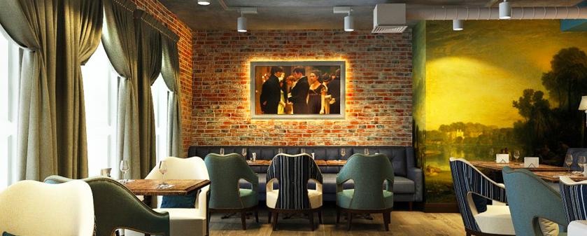 Интерьер кафе Зал2 Вид 1 - House Interior Decor