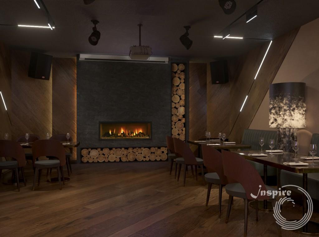 дизайн вип зала винного ресторана
