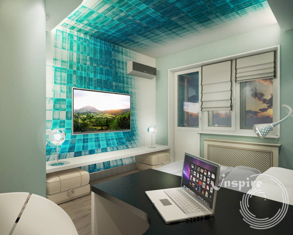 готовый дизайн проект двухкомнатной квартиры