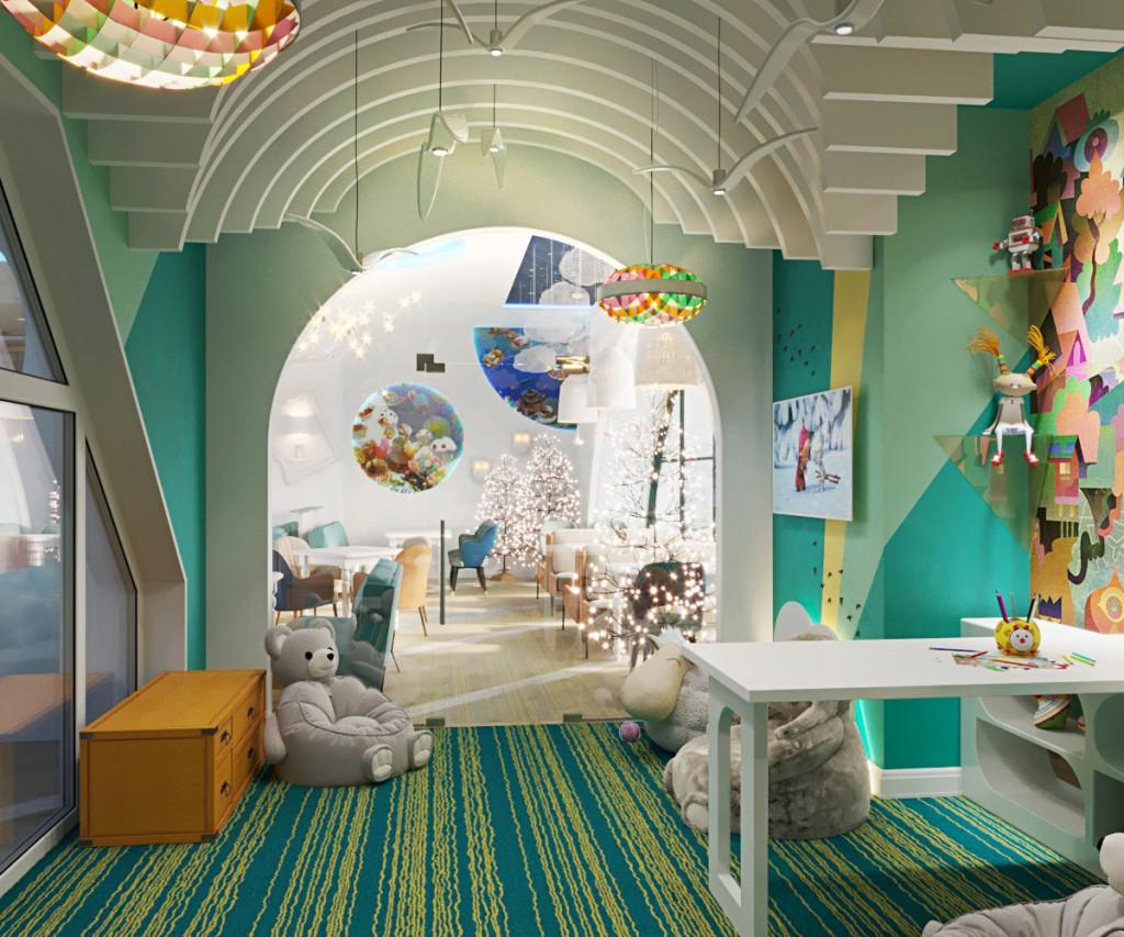 Игровая комната в детском кафе