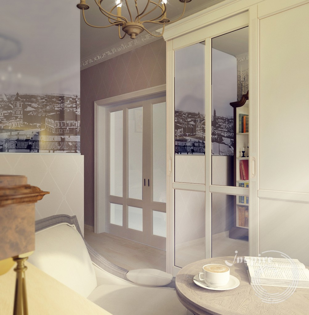 дизайн спальной четырехкомнатной квартиры