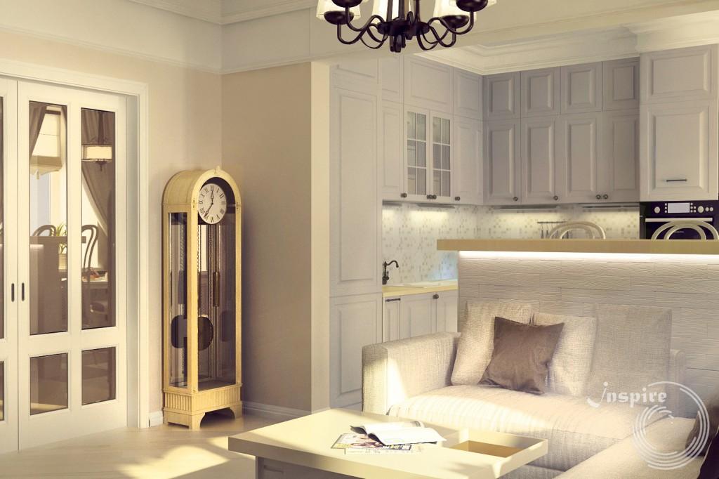дизайн проект четырехкомнатной квартиры под ключ