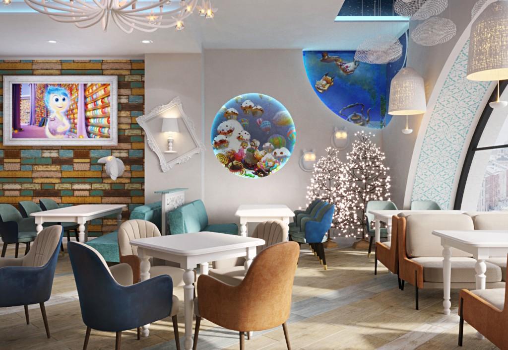 дизайн интерьера для семейного кафе