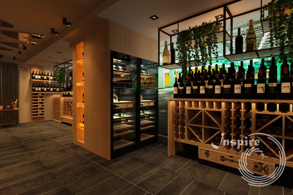концепция дизайна винного магазина