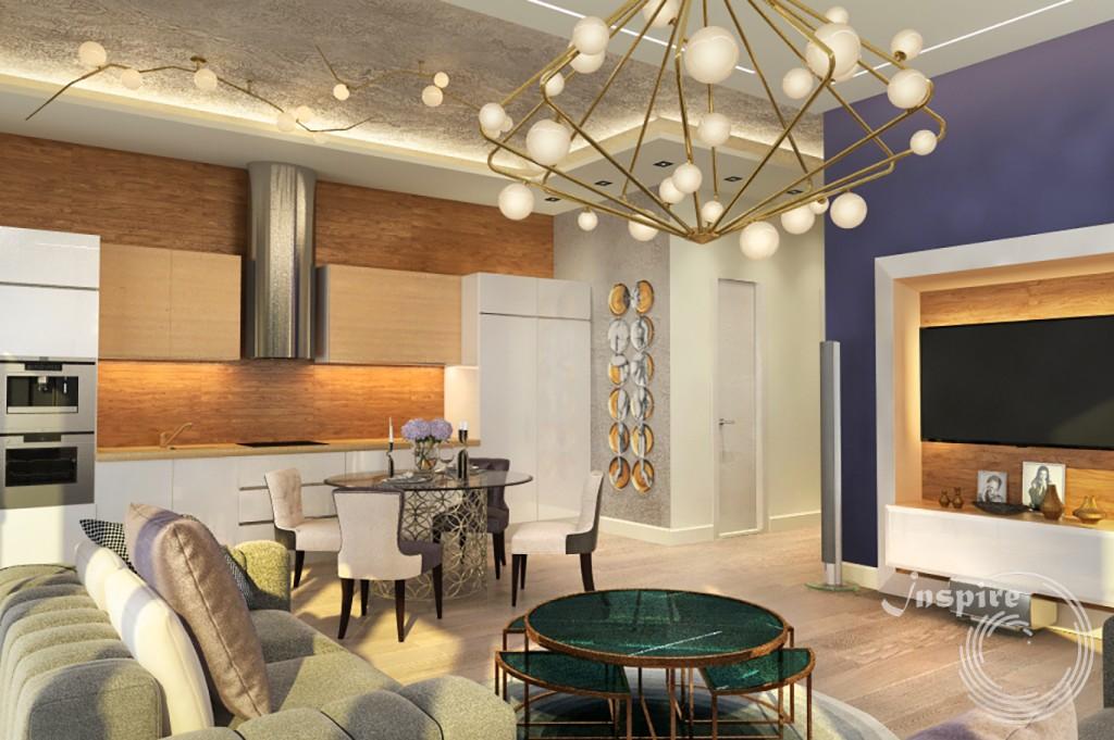 дизайн интерьера пятикомнатной квартиры