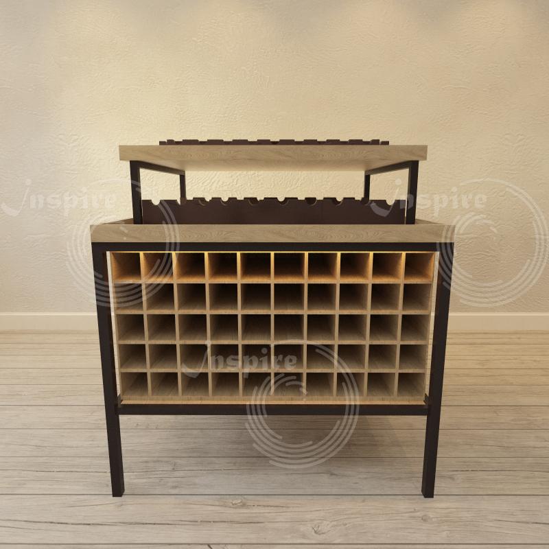 деревянный винный шкаф