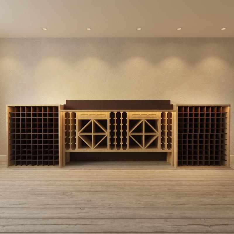 3d модель винного шкафа